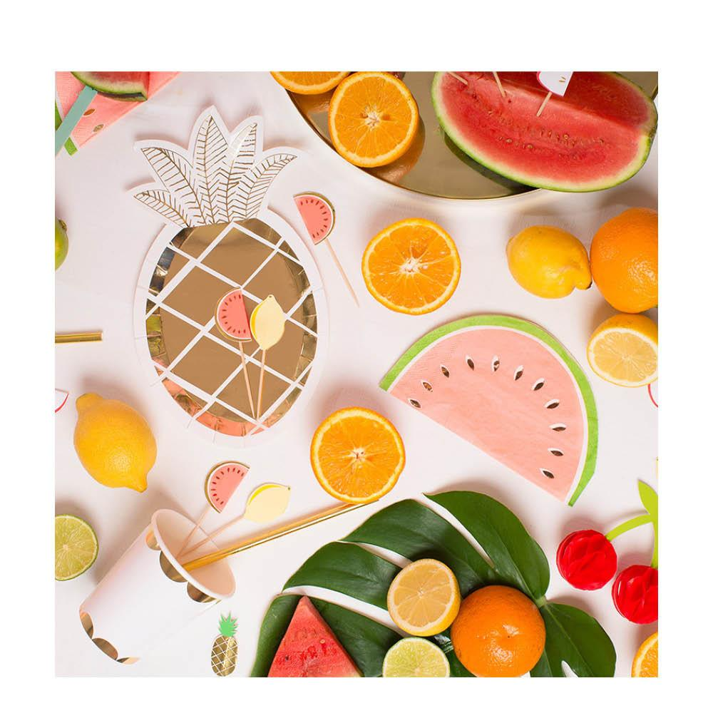 Pineapple Party Plates-Party Love
