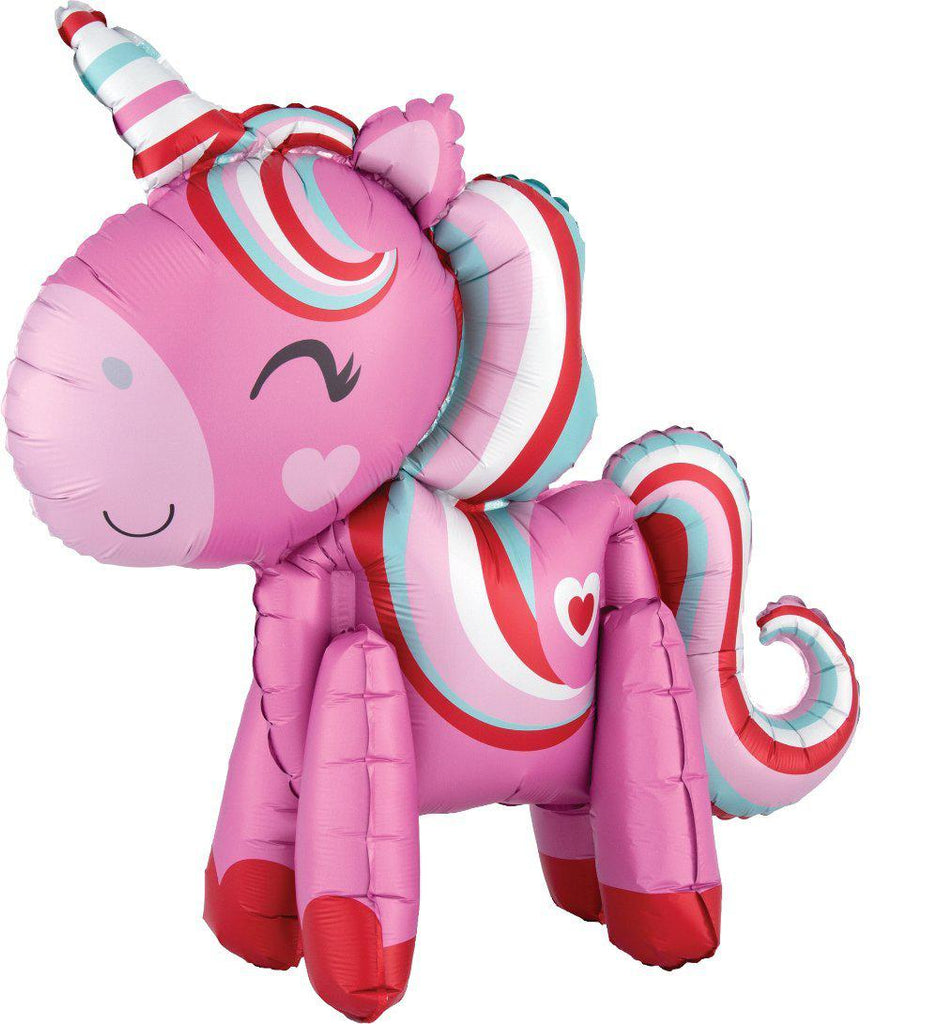 Pink Magical Love Unicorn Foil Balloon 55cm-Party Love