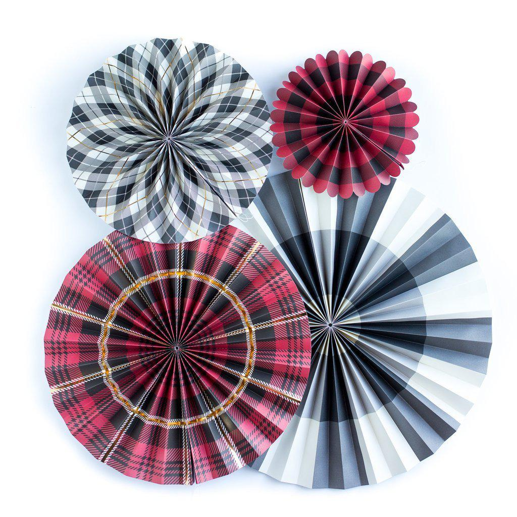 Plaid Party Fans, Christmas Decorations-Party Love