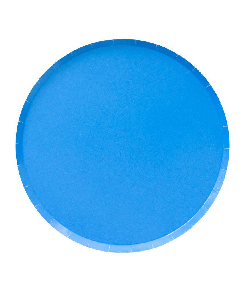 Pool Blue Paper Party Plates (Large)-Party Love