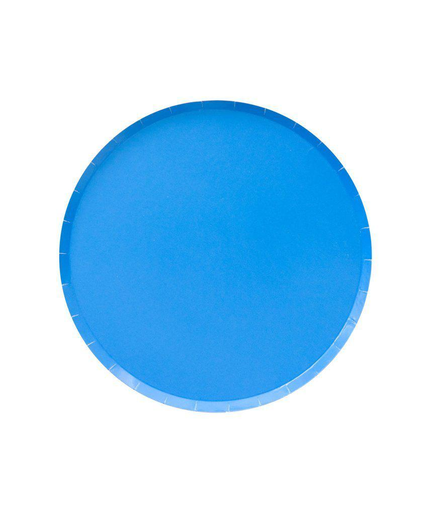 Pool Blue Paper Party Plates (Small)-Party Love