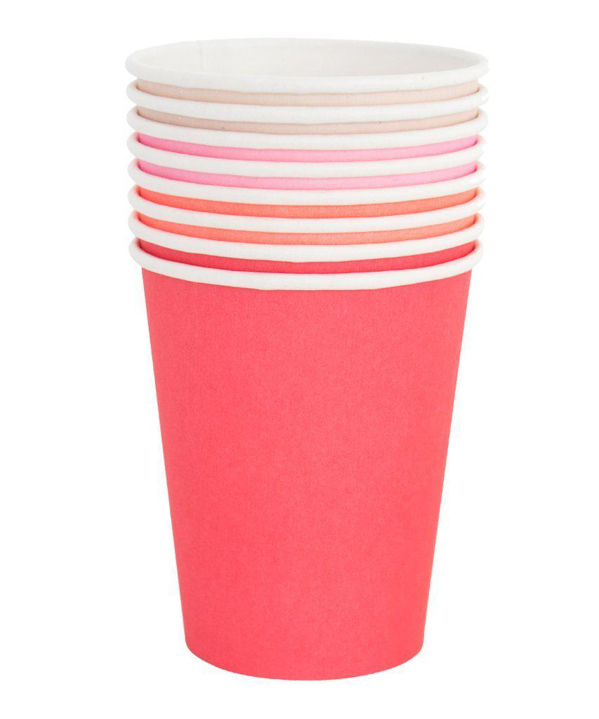 Pretty In Pink Cups - Coral, Blush, Pink-Party Love