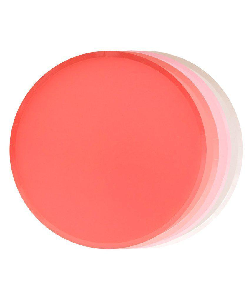 Pretty In Pink Party Plates - Coral, Blush, Pink (Small)-Party Love