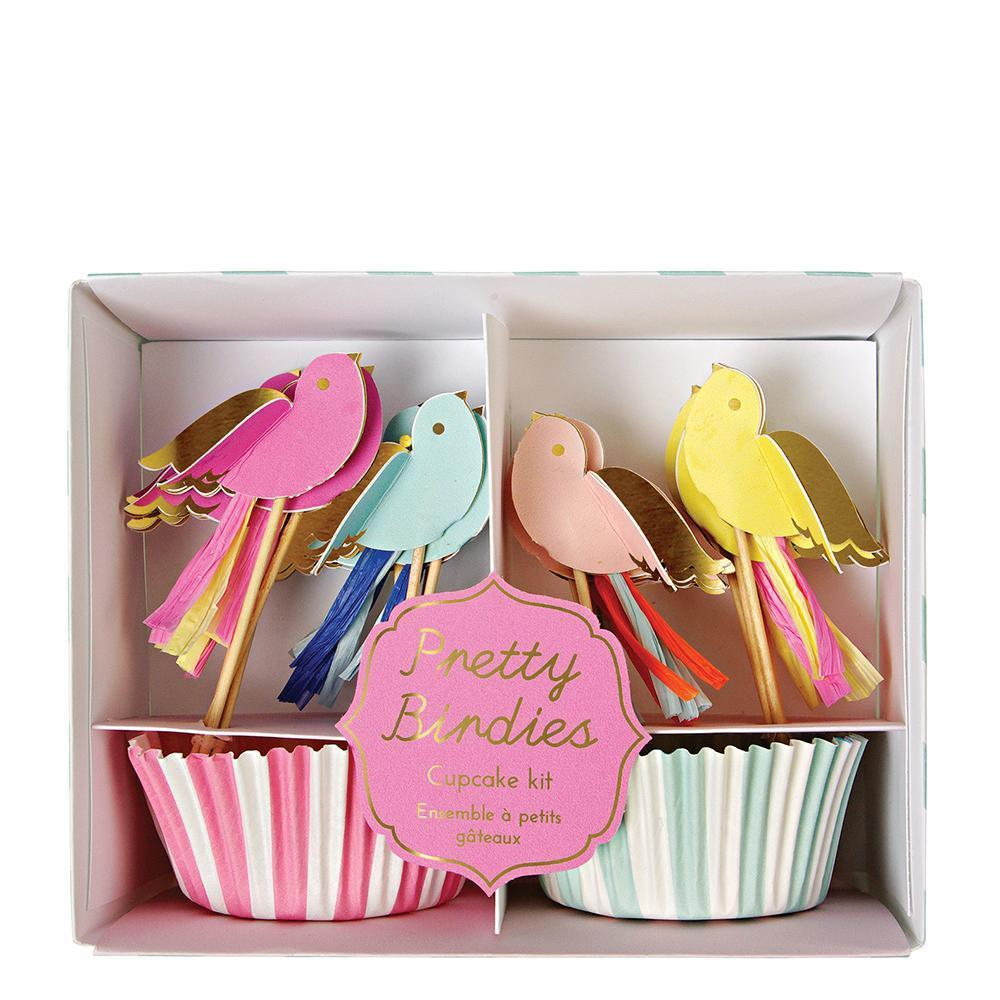 Meri Meri Pretty Birdies Cupcake Kit-Party Love