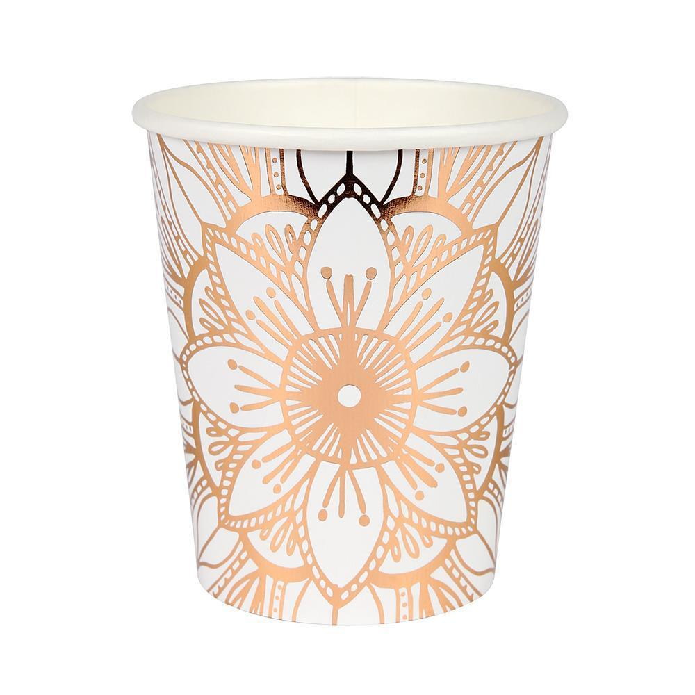 ARRIVES OCT. Rose Gold Mandala Cups - Design My Party