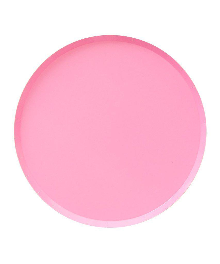 Rose Pink Paper Party Plates (Large)-Party Love