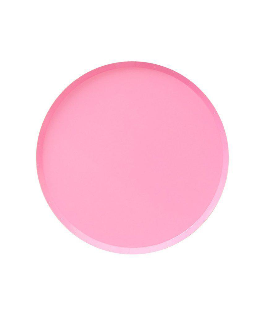 Rose Pink Paper Party Plates (Small)-Party Love