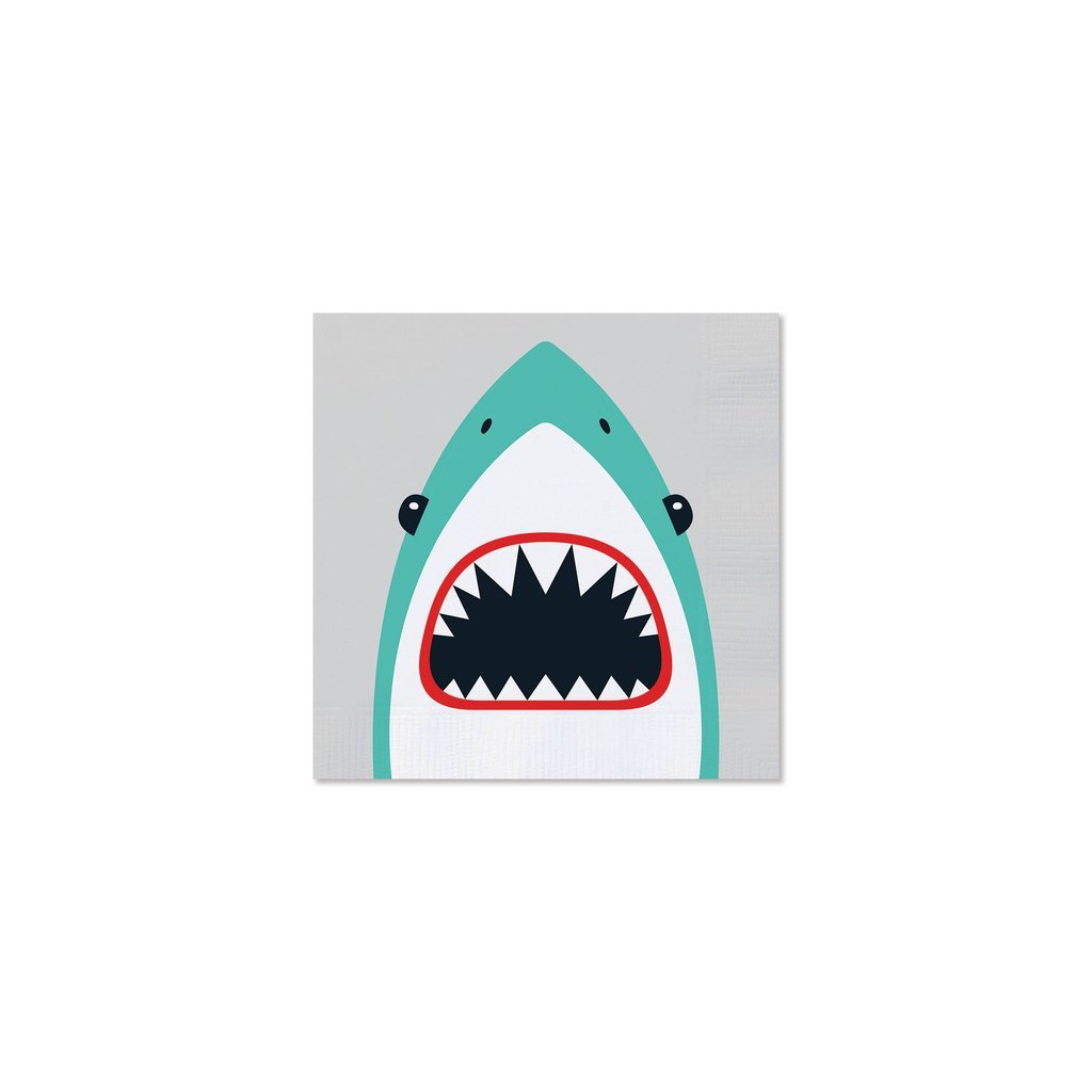 Shark Cocktail Napkins-Party Love