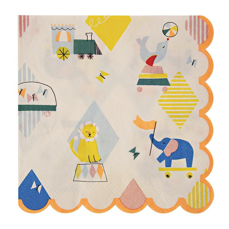 Silly Circus Napkins-Party Love