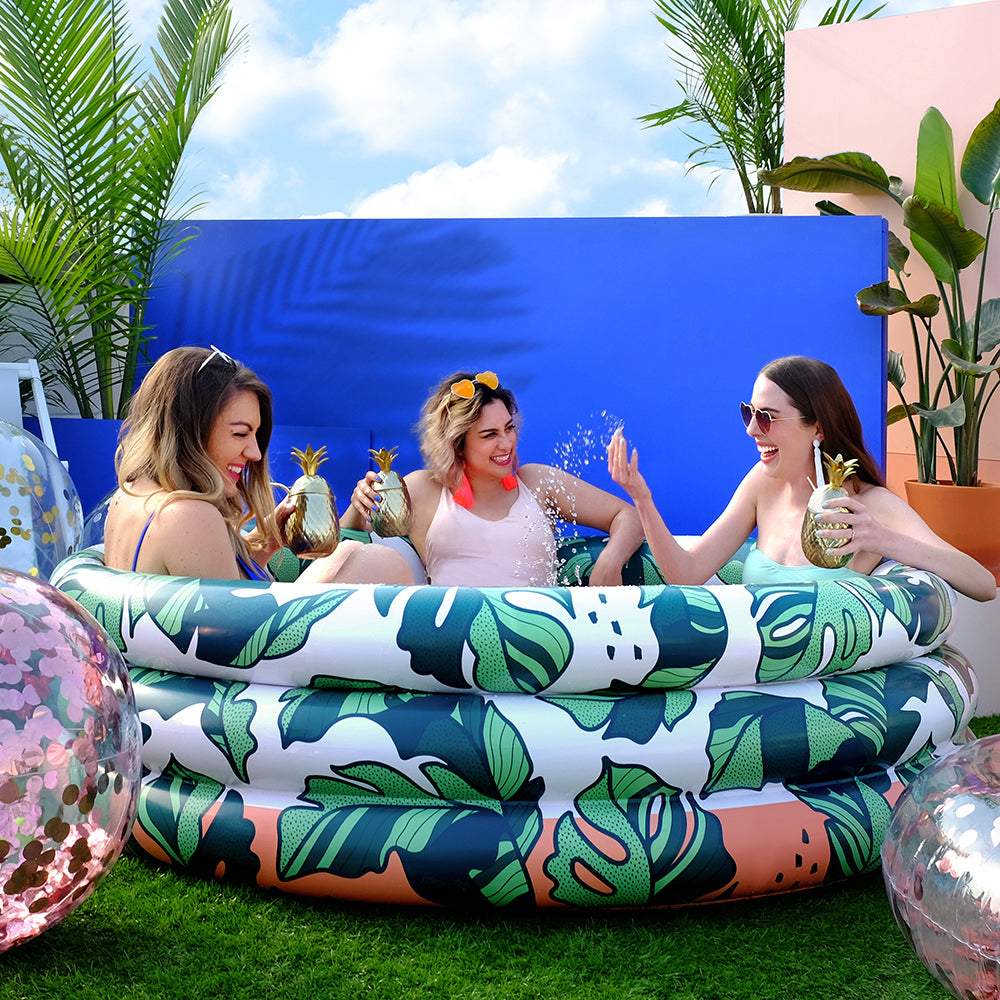 Minnidip THAT'S BANANA(LEAVE)S! Pool Luxe Inflatable Pool-Party Love
