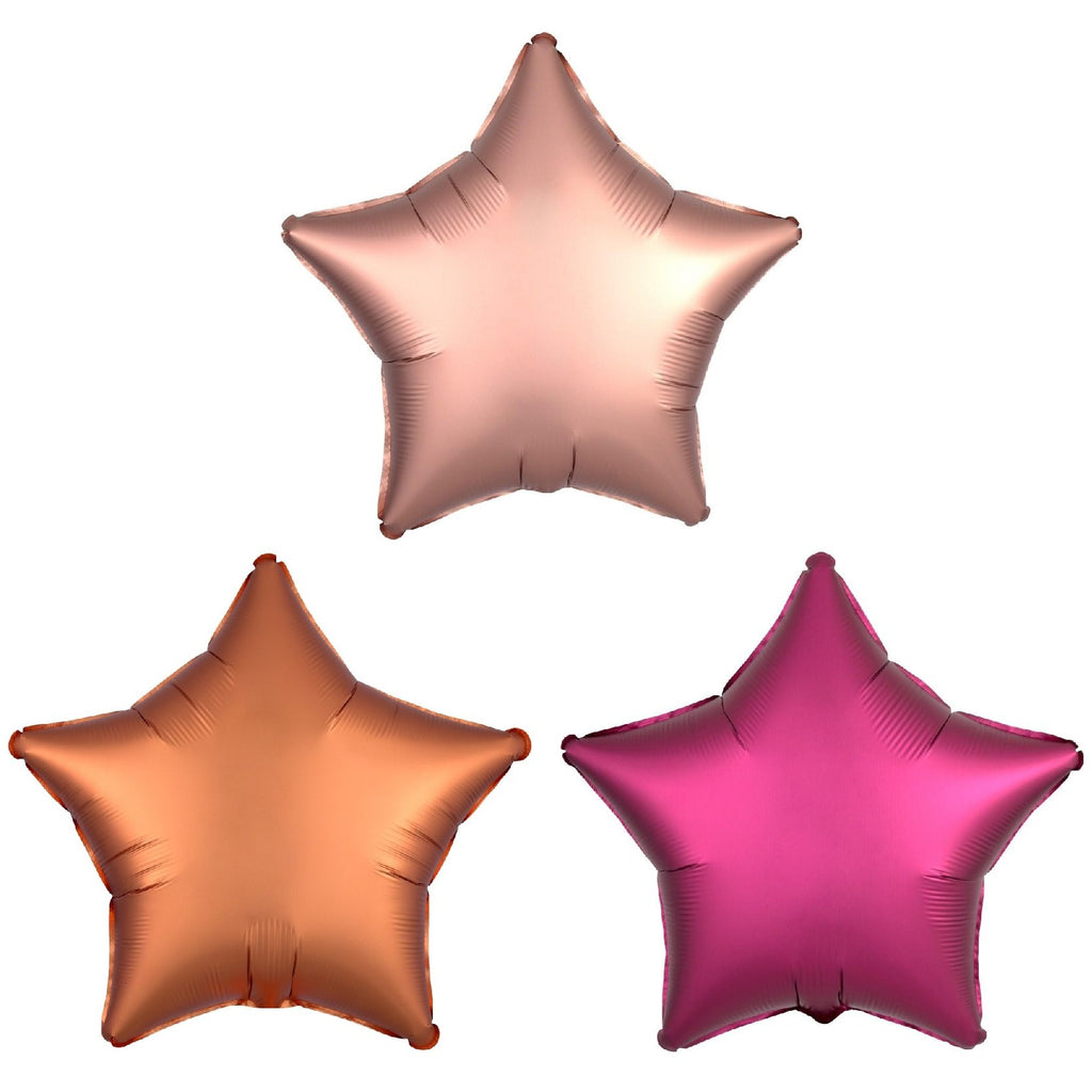 Star Luxe Foil Balloons (3 Pack)-Party Love