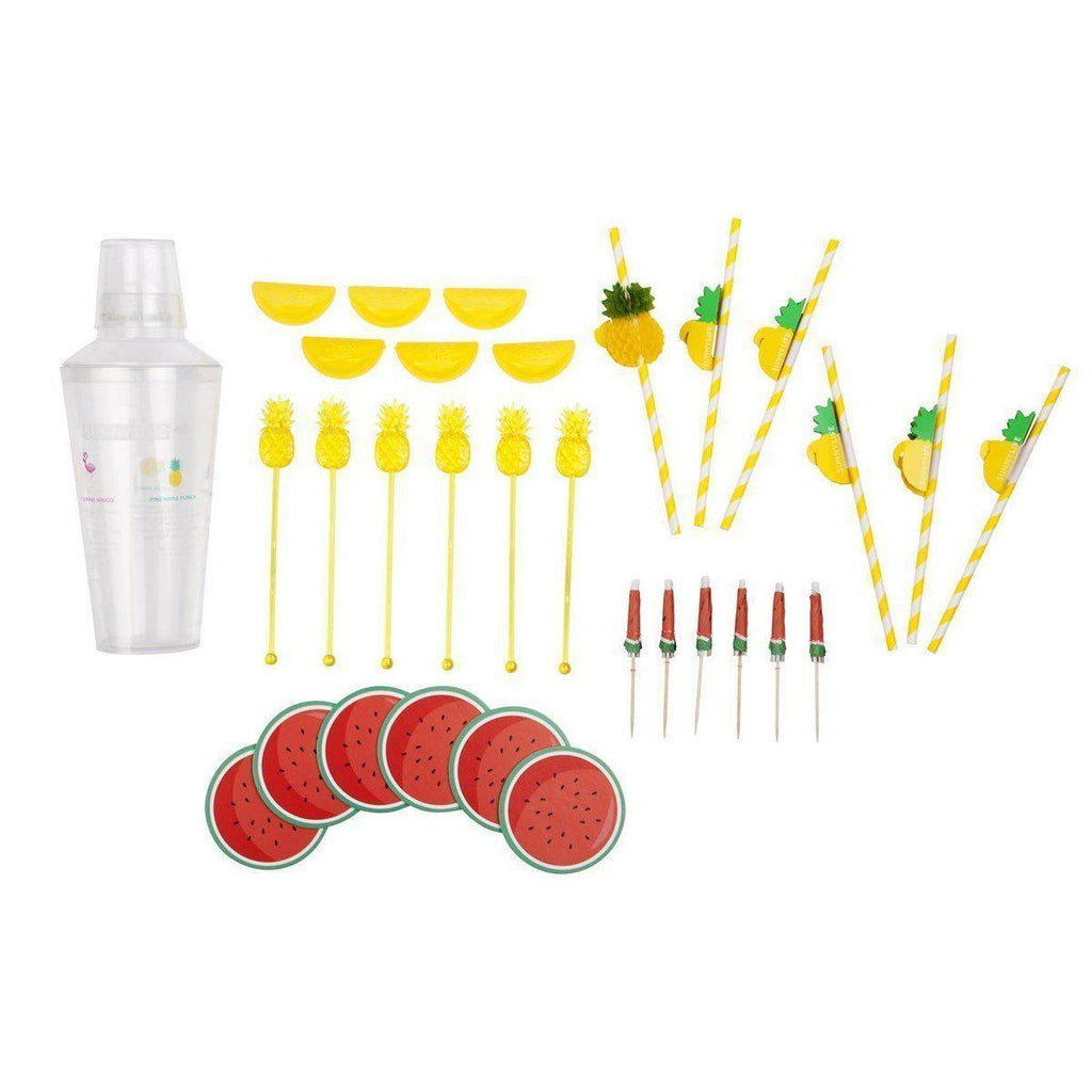 Sunnylife Cocktail Party Kit Watermelon/Pineapple Tropical-Party Love