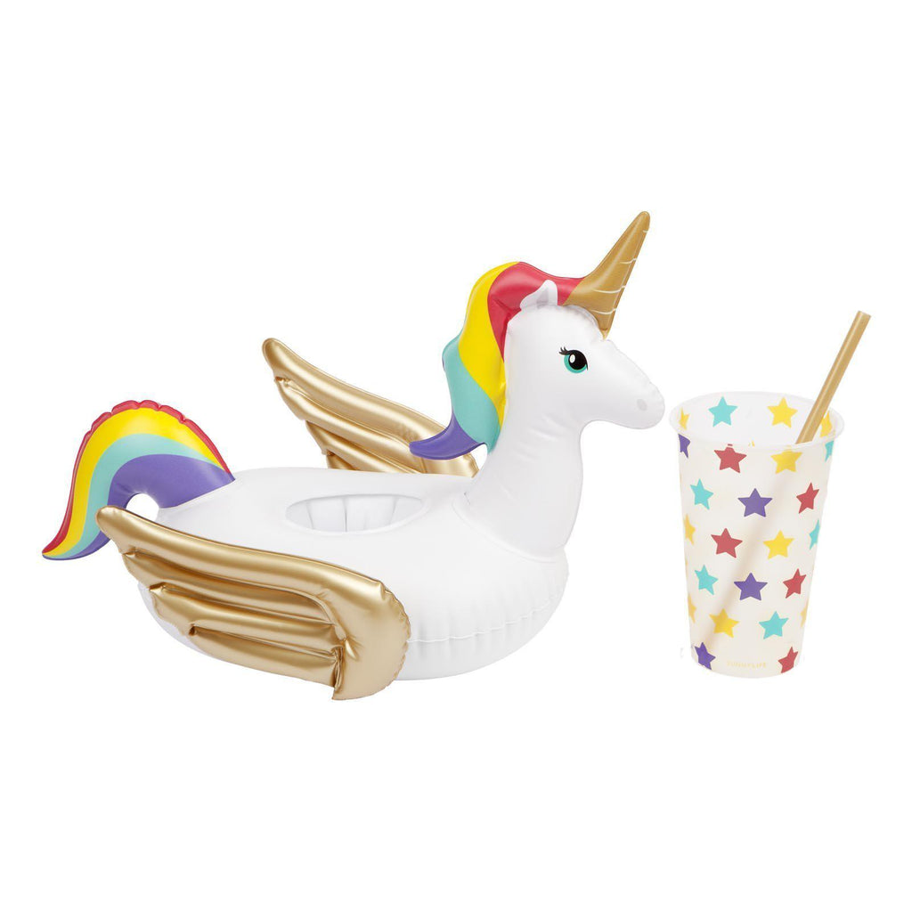 Sunnylife Drink Inflatables – Rainbow Unicorn Wonderland-Party Love