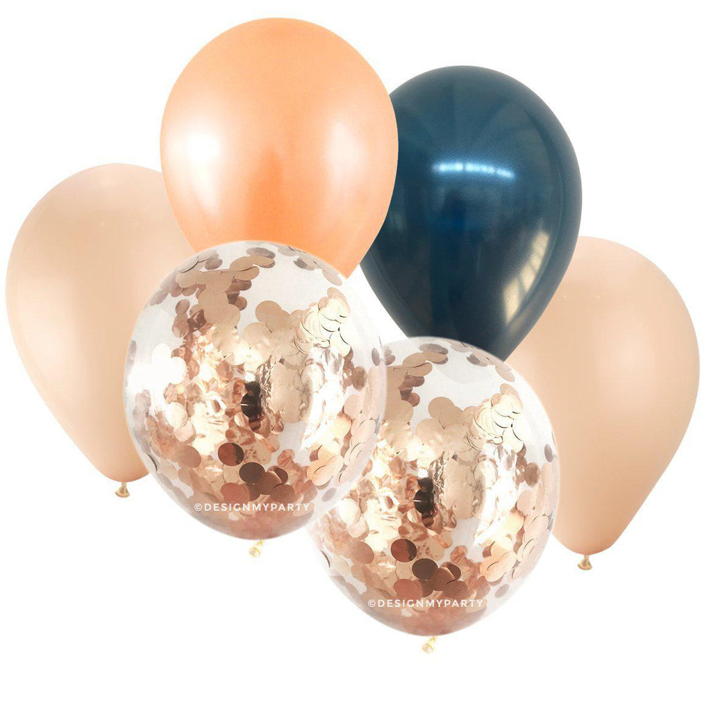 Sunset Glam – Confetti Balloon Bouquet (12 Pack)-Party Love