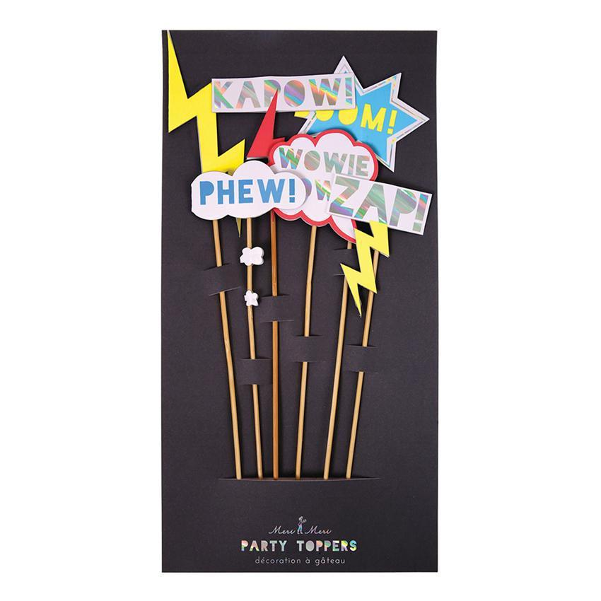 Super Hero Zap! Party Cake Toppers-Party Love
