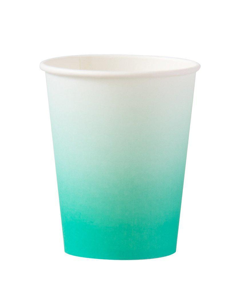 Teal Ombre Cups-Party Love