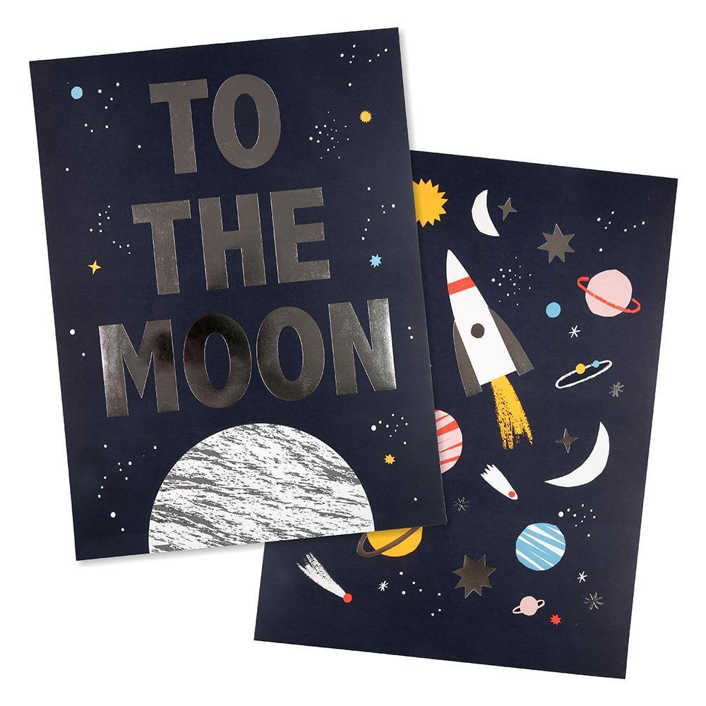 To the moon Space Prints (2 Designs)-Party Love
