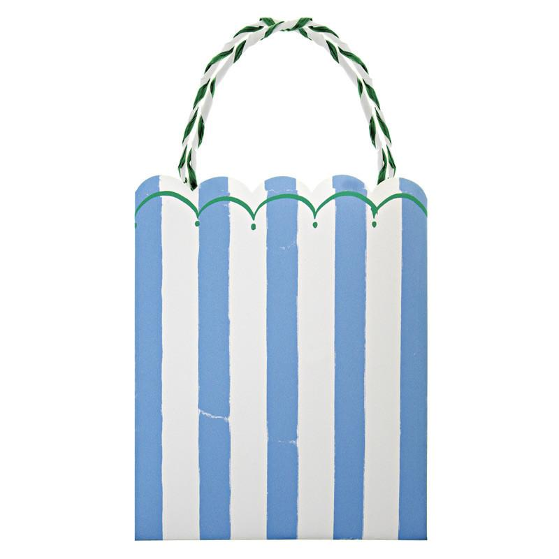 Toot Sweet Blue Stripe Party Bags-Party Love