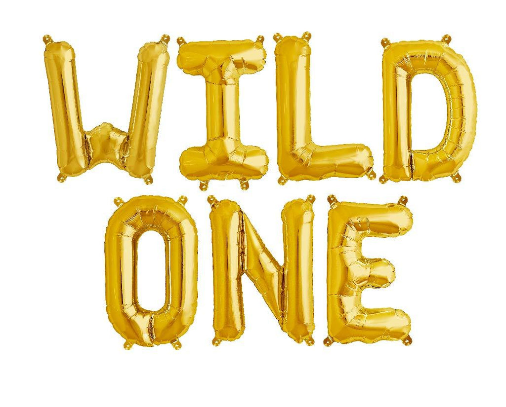 "40cm (16"") Wild One Gold Foil Balloons-Party Love"