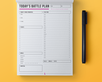 Daily Battle Plan - Notepad