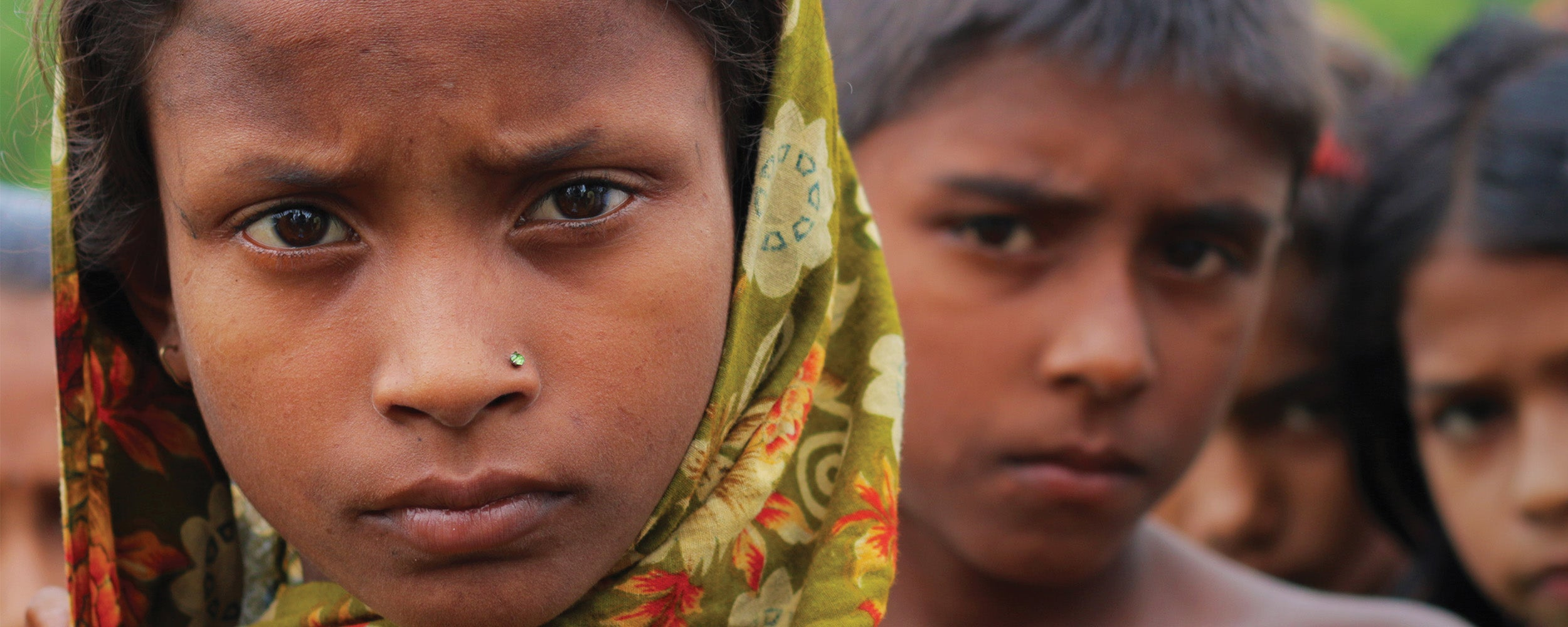 Bangladeshi children on the frontlines of climate change.