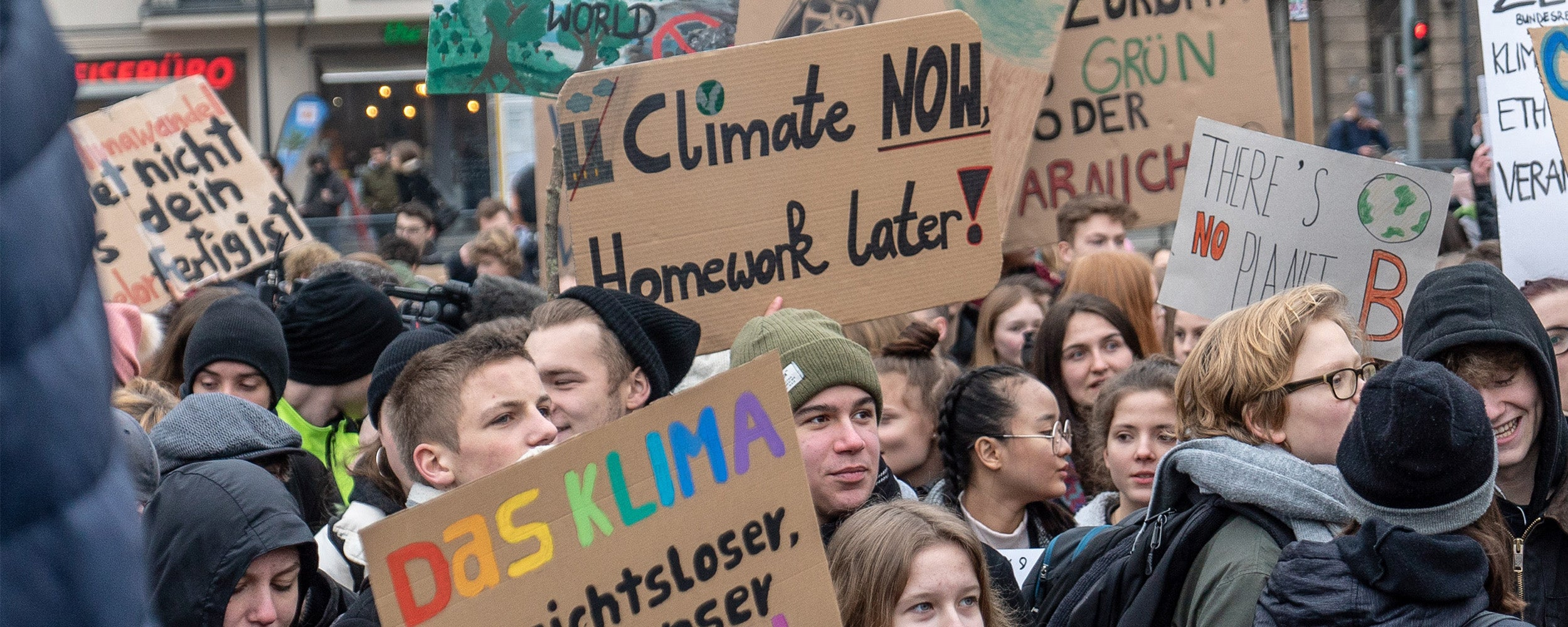 Climate strike students.