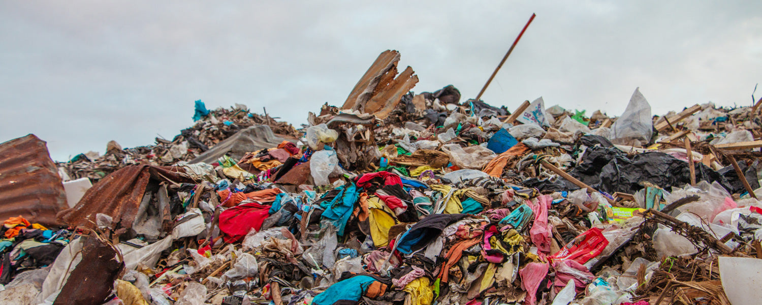 A landfill in Bali full of offcut pieces of fabric... this is what we're trying to stop.