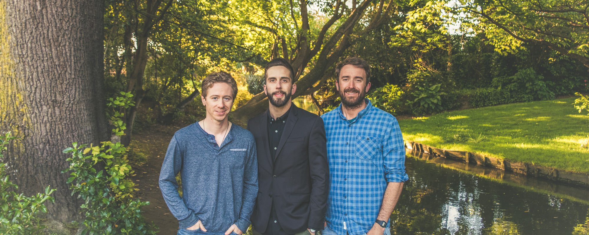 Trump Forest co-founders, from left: Jeff Willis, Adrien Taylor, Dan Price.