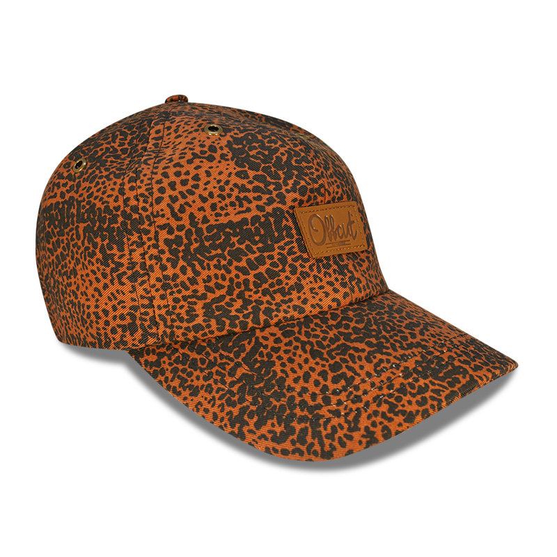 leopard - 6 panel dad hat
