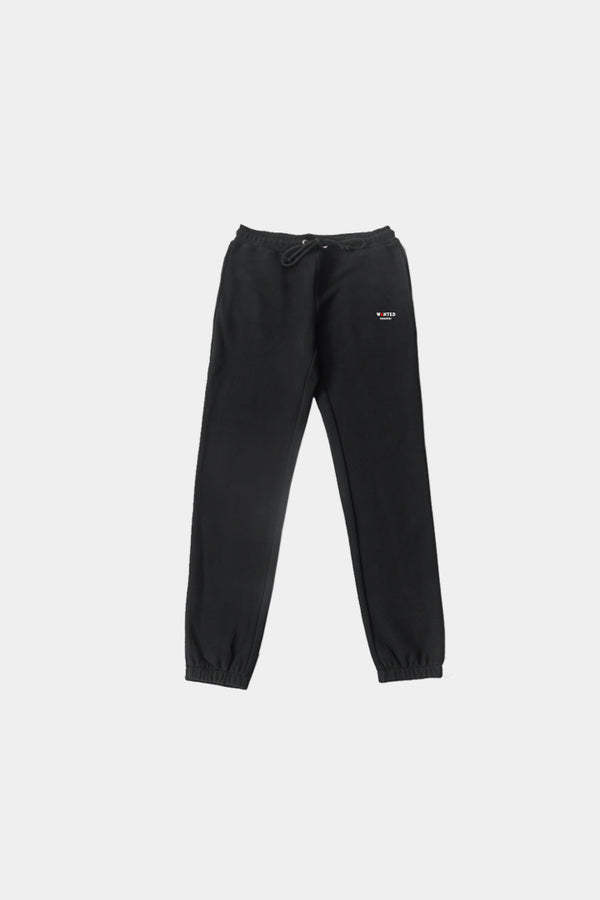 BLACK BASIC ESSENTIAL SWEATPANTS