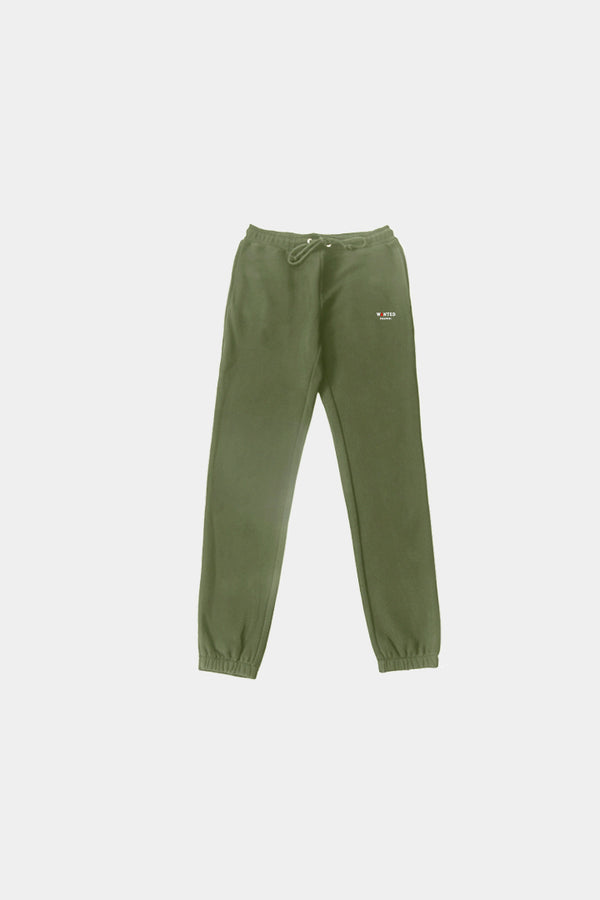 OLIVE BASIC ESSENTIAL SWEATPANTS