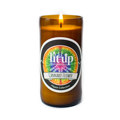 Burning Cannabis Flower Soy Candle