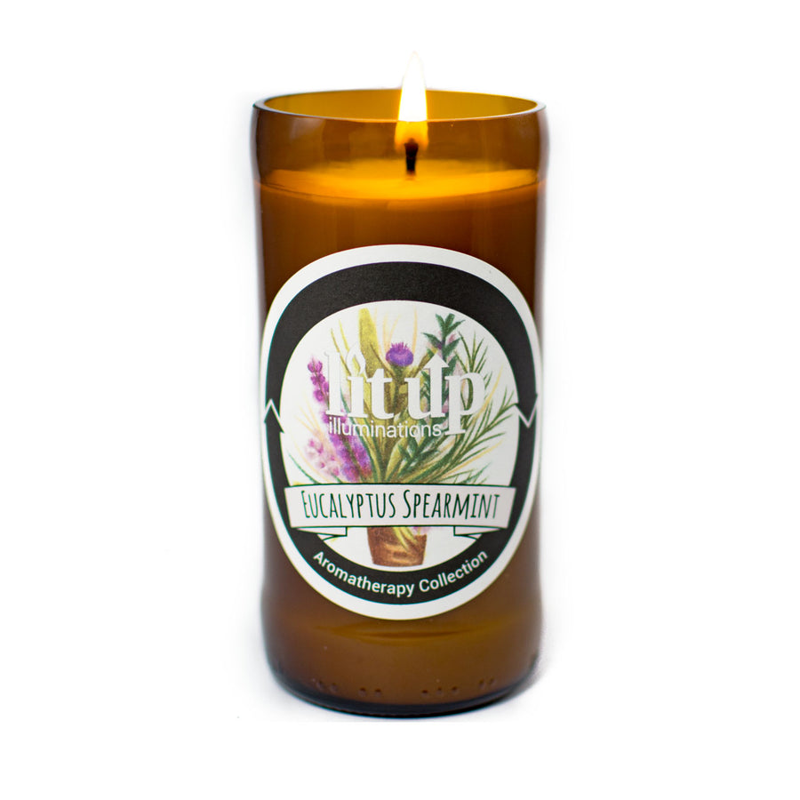 Eucalyptus Spearmint Soy Candle - Lit Up Illuminations