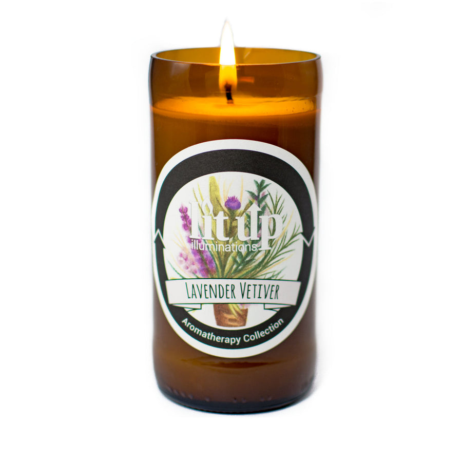 Lavender Vetiver Soy Candle - Lit Up Illuminations