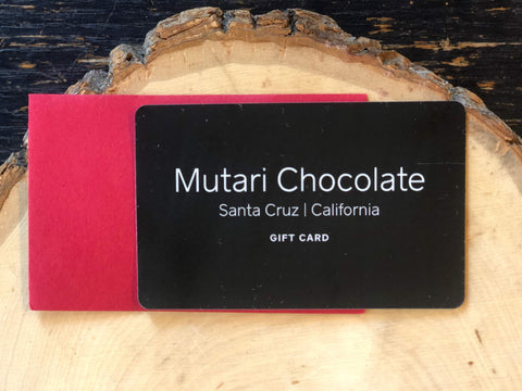 Mutari Craft Chocolate Gift Card