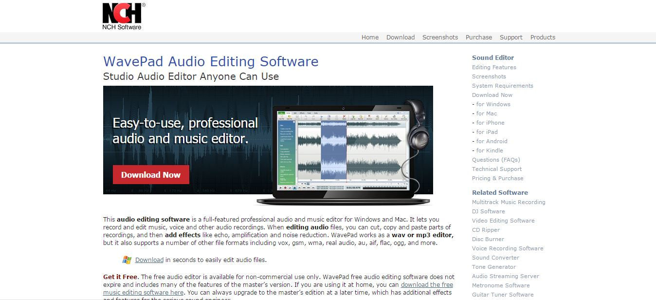 best music editor free download