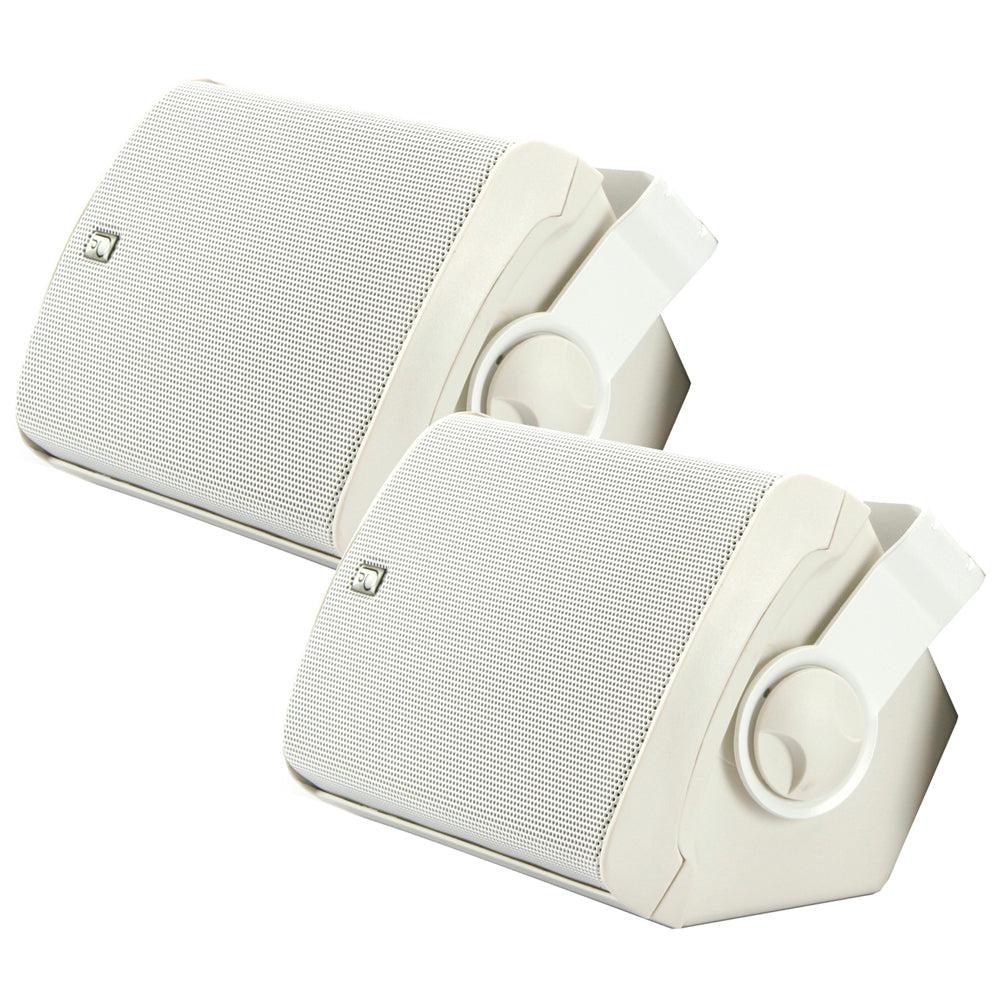 Poly-Planar Compact Box Speaker - (Pair) White
