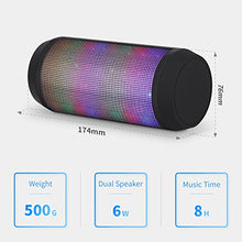 Load image into Gallery viewer, Lighted Multicolor Bluetooth Speaker with Microphone