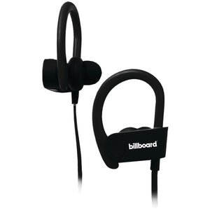 Bluetooth(R) Earhook Earbuds with Microphone (Black)