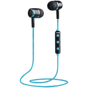 Bluetooth(R) Isolation Earbuds with Microphone & Remote (Blue)