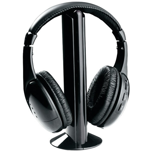 Professional 5-in-1 Wireless Headphones with Microphone & FM Radio