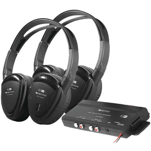 2 Sets of 2-Channel RF 900MHz Wireless Headphones with Transmitter