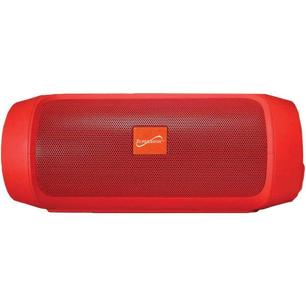 7-Inch Portable Bluetooth(R) Rechargeable Speaker (Red)