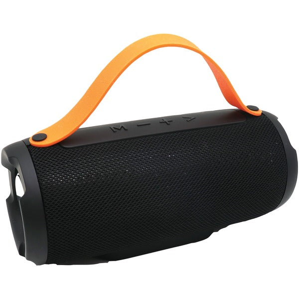 Bluetooth(R) Portable Speaker with Built-in Strap (Black)