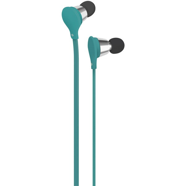 Jive Noise-Isolating Earbuds with Microphone (Turquoise)
