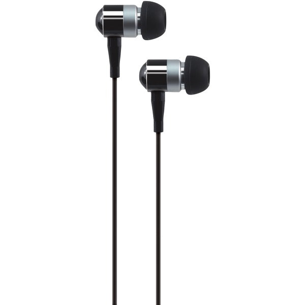PEB02 In-Ear Aluminum Stereo Earbuds (Black)