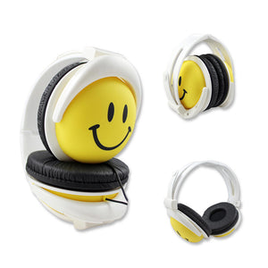 Smiling Face Wired Headphones