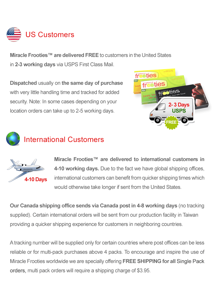 MiracleFruit Hut Delivery Info