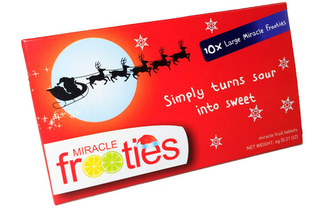 Front image of Christmas Miracle Frooties Miracle Berry Tablets