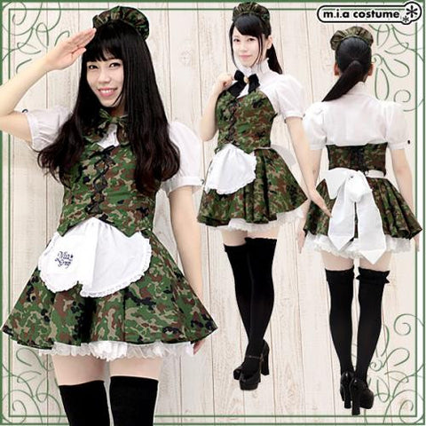 "Maid clothes ""Mia group official products Mia Café mini uniform camouflage pattern"" - JapaneseGoods.jp - 1"